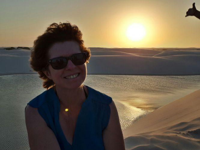 Xavier e Fabienne Baleyte: retorno da viagem aos Lençóis Maranhenses